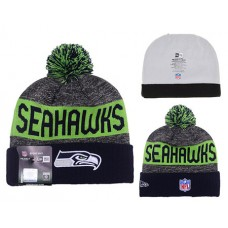 NFL Seattle Seahawks Beanies NEW ERA Knit Hats Winter Caps BLACK GREY